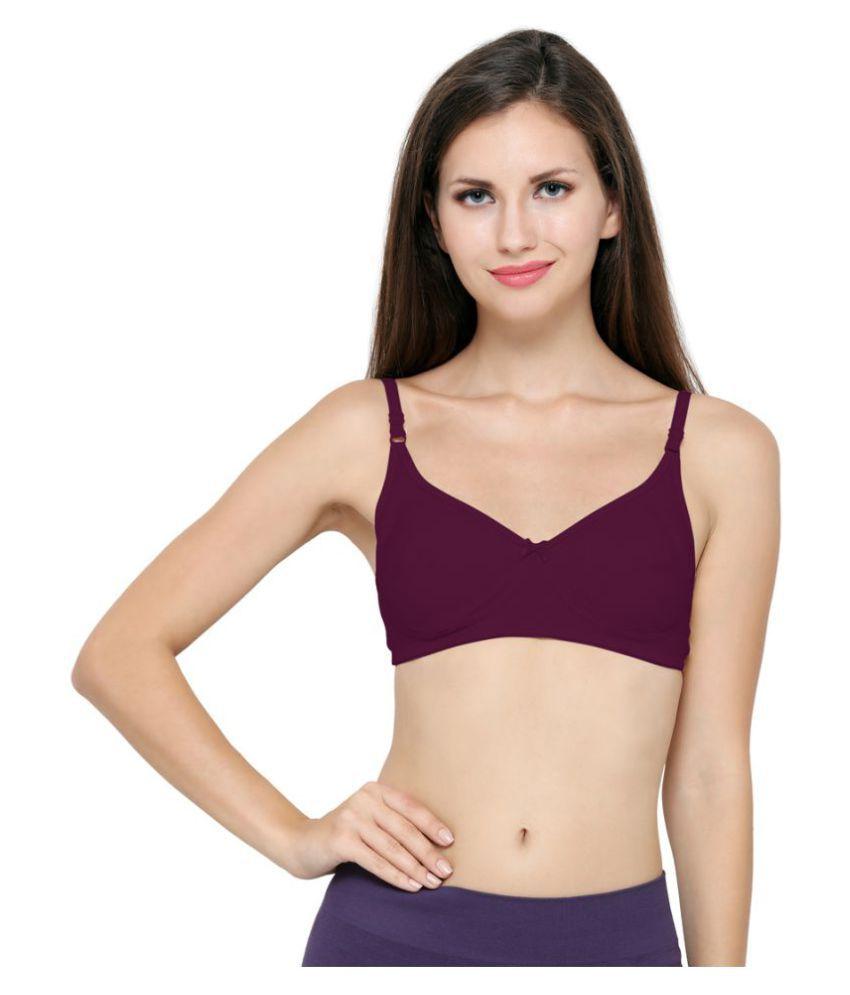 Ziya Cotton T-Shirt Bra - Purple