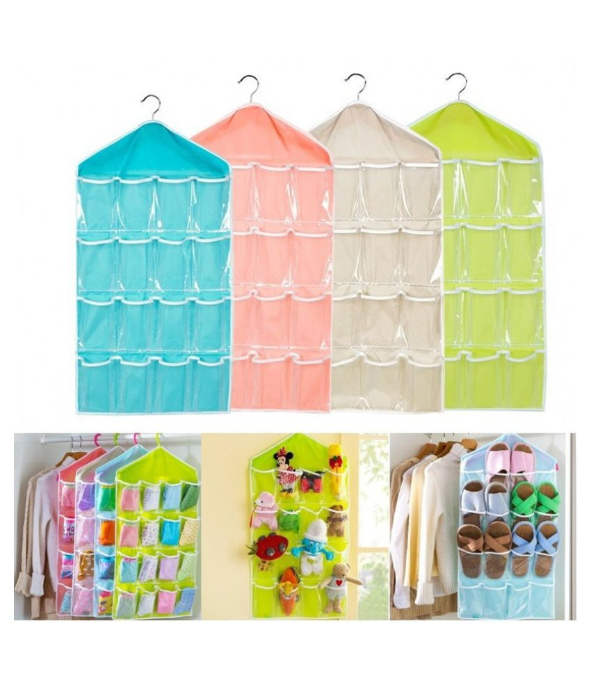 Multifunction16PocketsSocksShoeToyUnderwearSortingStorageBagDoorWallHangingClosetOrganizer