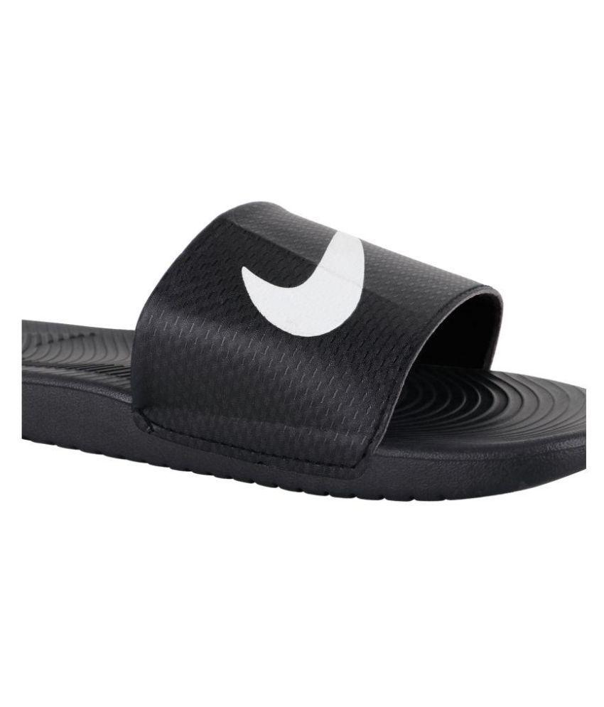 7b37ee3b6 Nike kawa slide Black Slide Flip flop Price in India- Buy Nike kawa ...