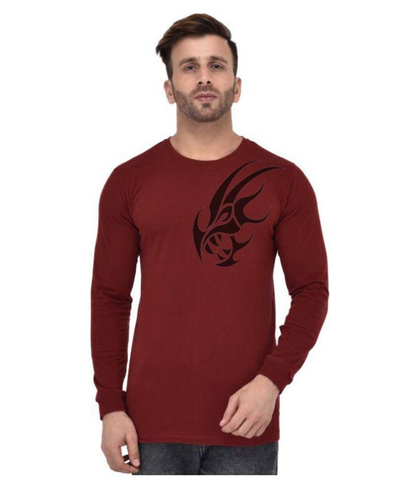 clafoutis Maroon Round T-Shirt Pack of 1