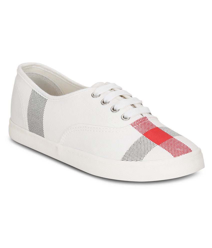 Get Glamr White Casual Shoes
