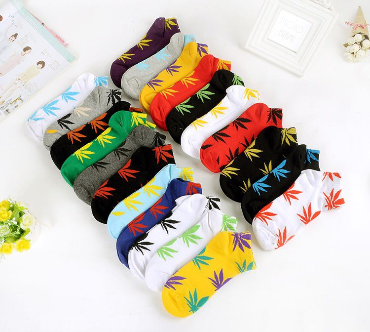 High Quality Weed Socks For Men Women Men's Harajuku Style Cotton Skateboard Sock Chaussette Mens Calcetines
