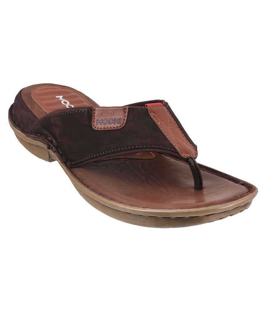 7653dd967975 MOCHI Mochi Men Brown Leather Sandals BROWN Sandals Price in India- Buy  MOCHI Mochi Men Brown Leather Sandals BROWN Sandals Online at Snapdeal