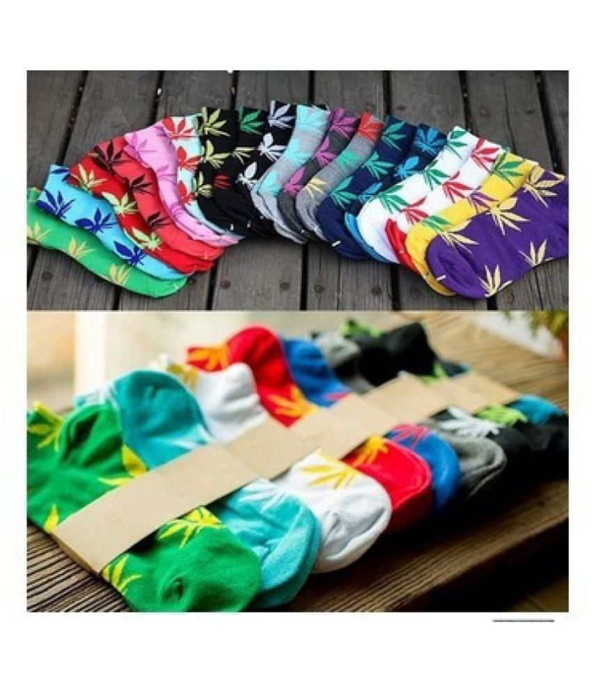Hip-pop Maple Leaf Socks 18 colour