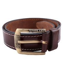 Woodland Brown Leather Casual Belt - Pack of 1