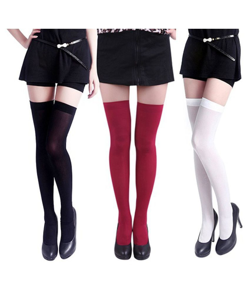 Fashion Women's Opaque Over The Knee Socks Sexy Thigh High Stockings 4 Colors