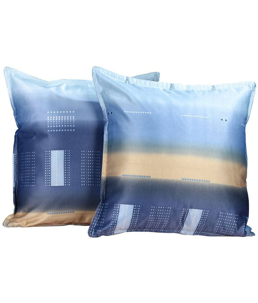 Just Linen Set of 2 Polyester Cushion Covers 40X40 cm (16X16)