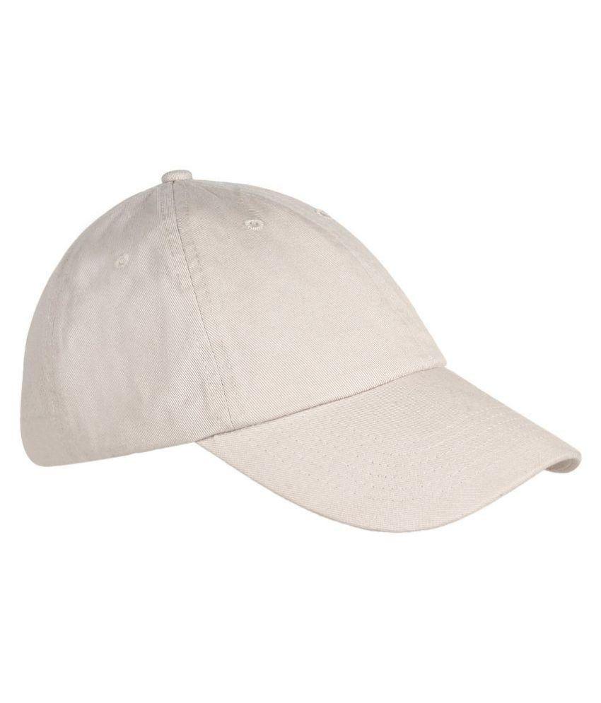 Parrk Black Plain Cotton Caps