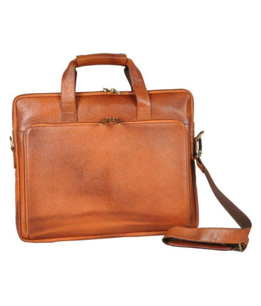 Bag Jack NA Tan Leather Office Bag