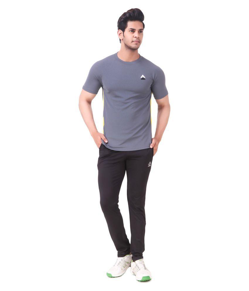 INTEGER Feel Alive Grey Polyester T-Shirt Single Pack