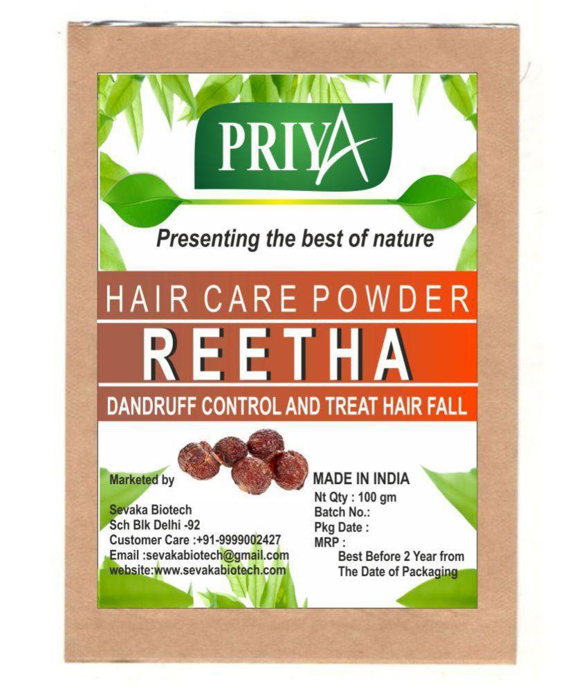 Priya Reetha Reetha Powder 100 gm Semi Permanent Hair Color Dark Brown Brown 100 gm