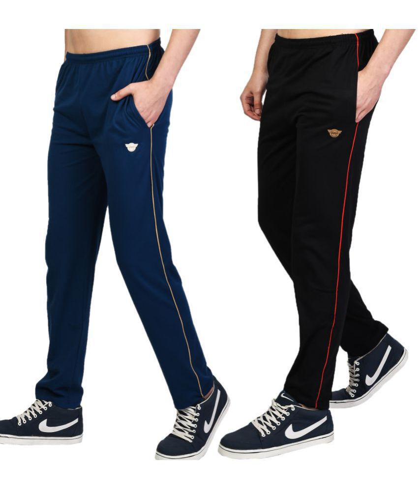 White Moon Multi Cotton Blend Trackpants Pack of 2