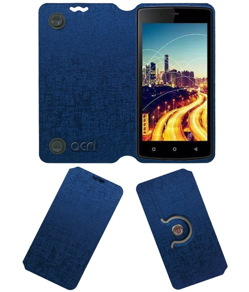 ZIOX ASTRA BLAZE Flip Cover by ACM - Blue Dual Side Stand