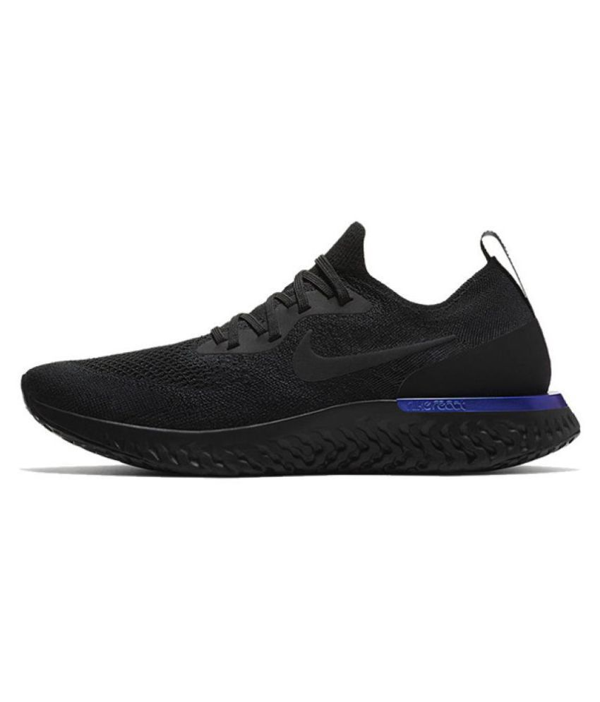 dbabd19c30f1b Nike 2018 Epic React Flyknit Black Running Shoes - Buy Nike 2018 Epic React  Flyknit Black Running Shoes Online at Best Prices in India on Snapdeal