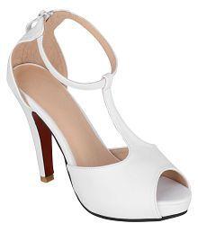 Sherrif Shoes White Stiletto Heels