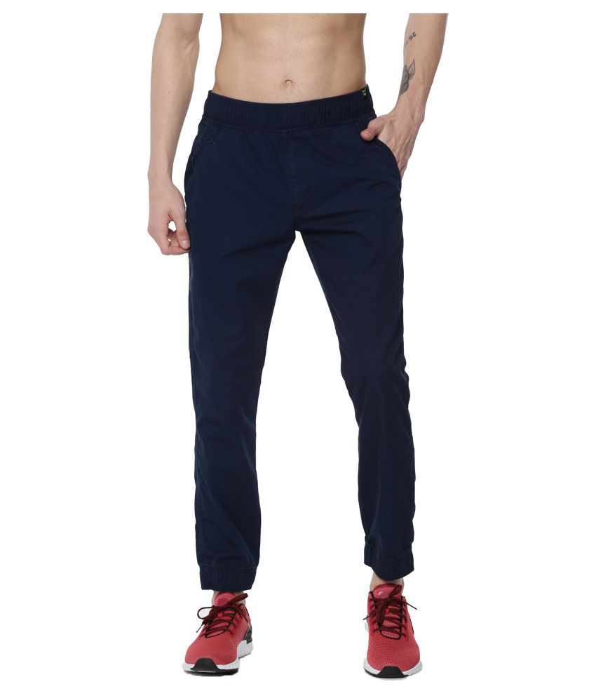 Sports 52 Wear Blue Regular -Fit Flat Joggers