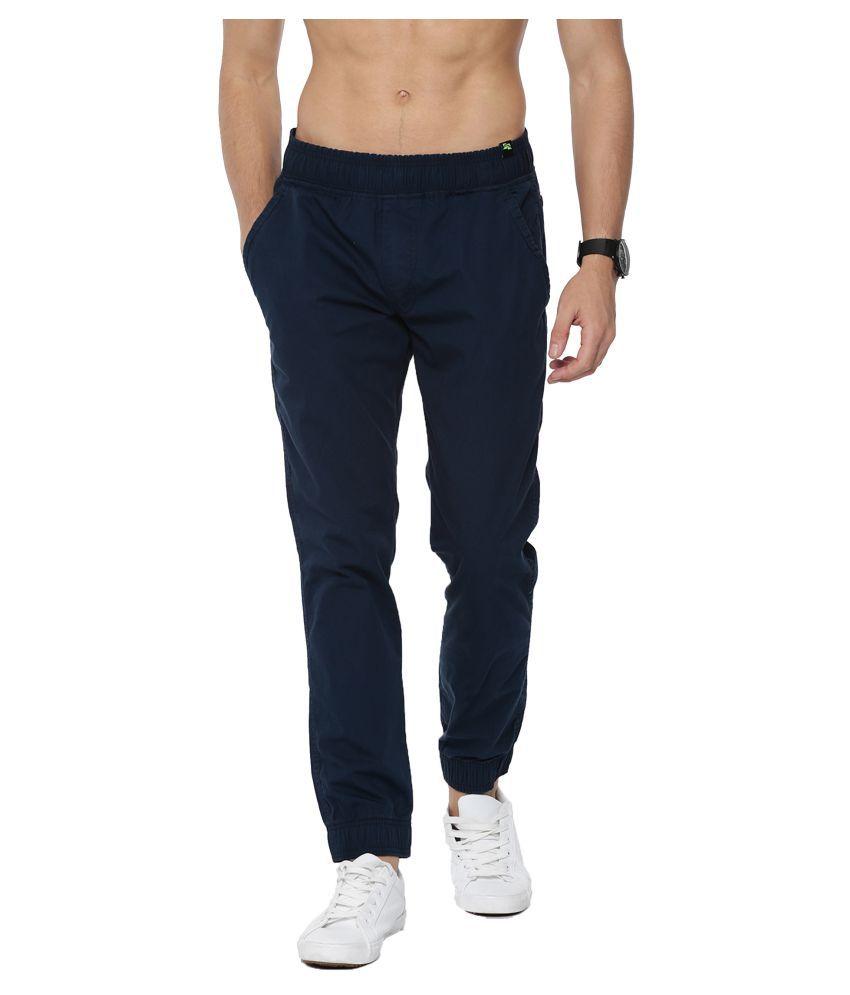 Sports 52 Wear Blue Regular -Fit Flat Joggers