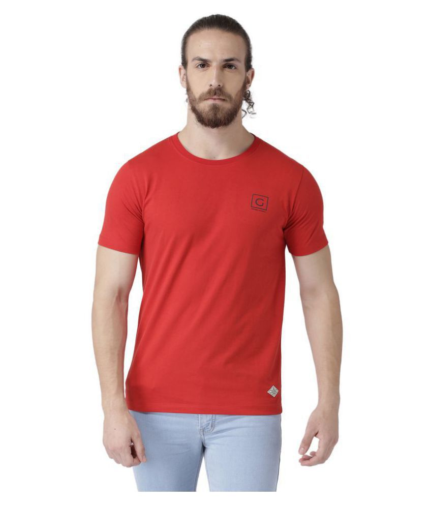 GRIFFEL Red Round T-Shirt Pack of 1