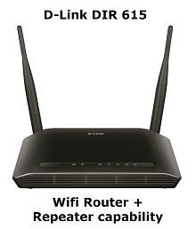 D-Link DIR-615 Wireless-N300 Wifi Router (Black, Not a Modem)