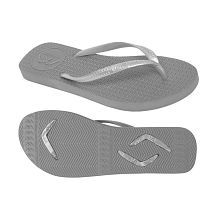 Boomerangz Slim Fit (Women's) Grey Gray Thong Flip Flop
