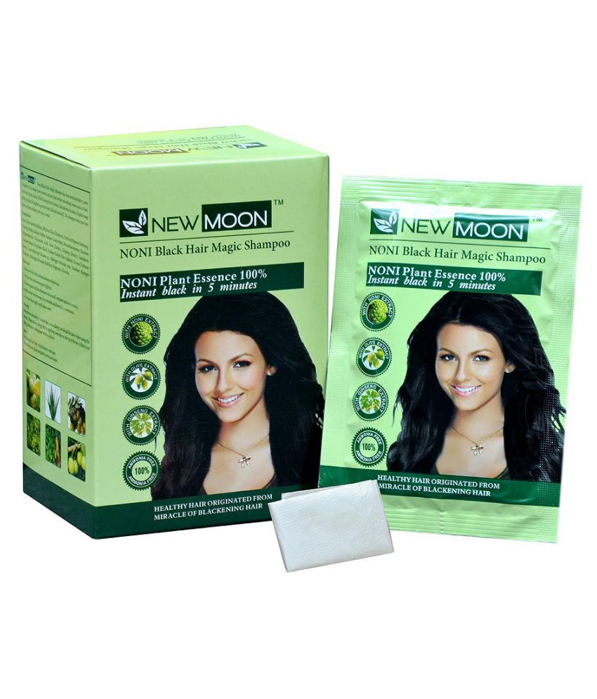 New Moon Noni beard hair color Permanent Hair Color Black 30 mL Pack of 20