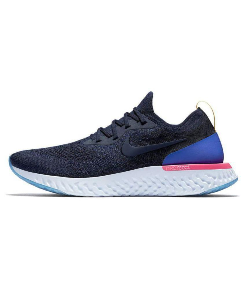 ... look out for 178e9 f8ea0 Nike Epic React Flyknit Blue Running Shoes . 4fdf5f4d1a