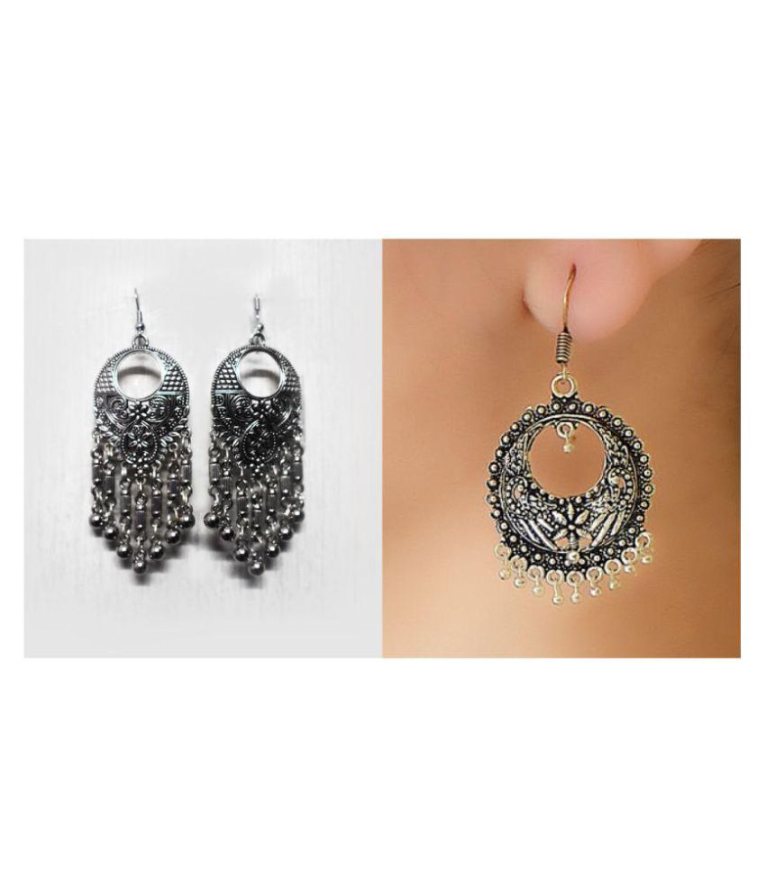 Combo Of Two Traditional Myasa Silver Earrings