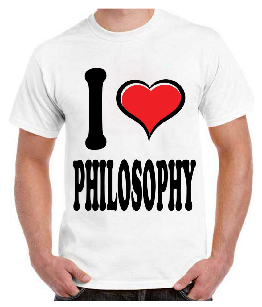 RITZEES White Dry Fit Polyester Tshirt on I Love Philosophy-L