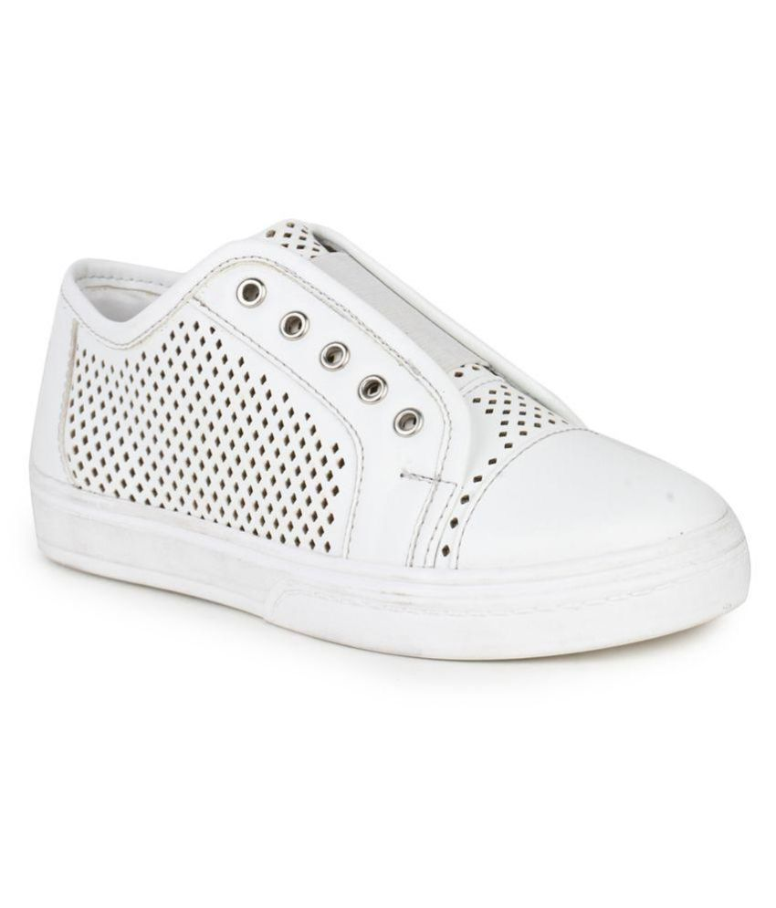 Bruno Manetti White Kids Unisex Faux Leather Sneakers