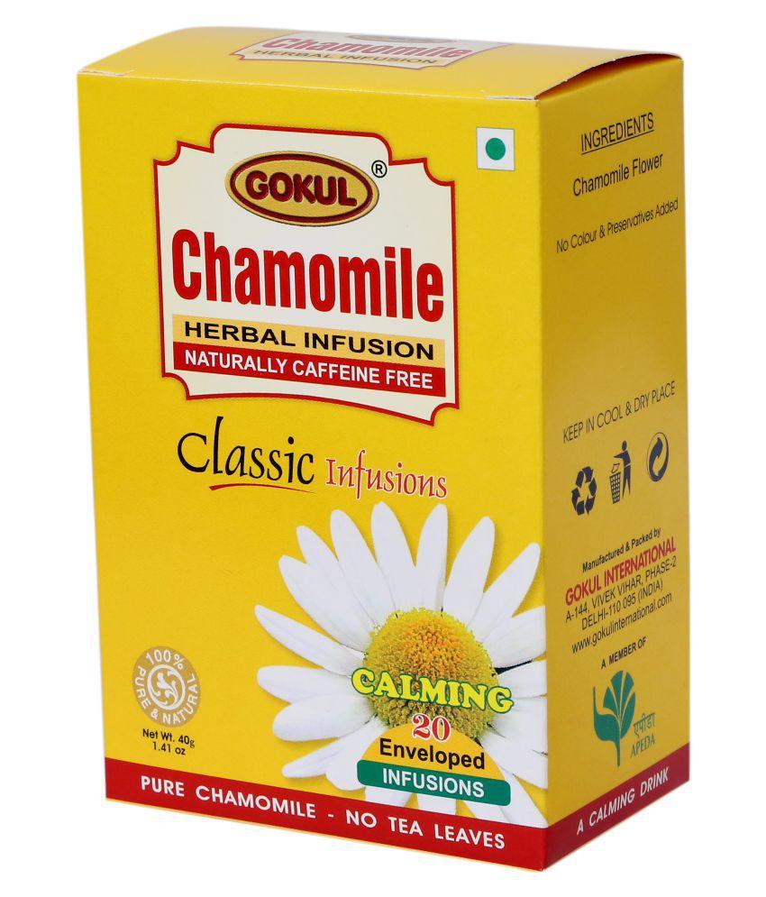 Gokul Chamomile Tea Chamomile Tea Bags 30 gm Pack of 3