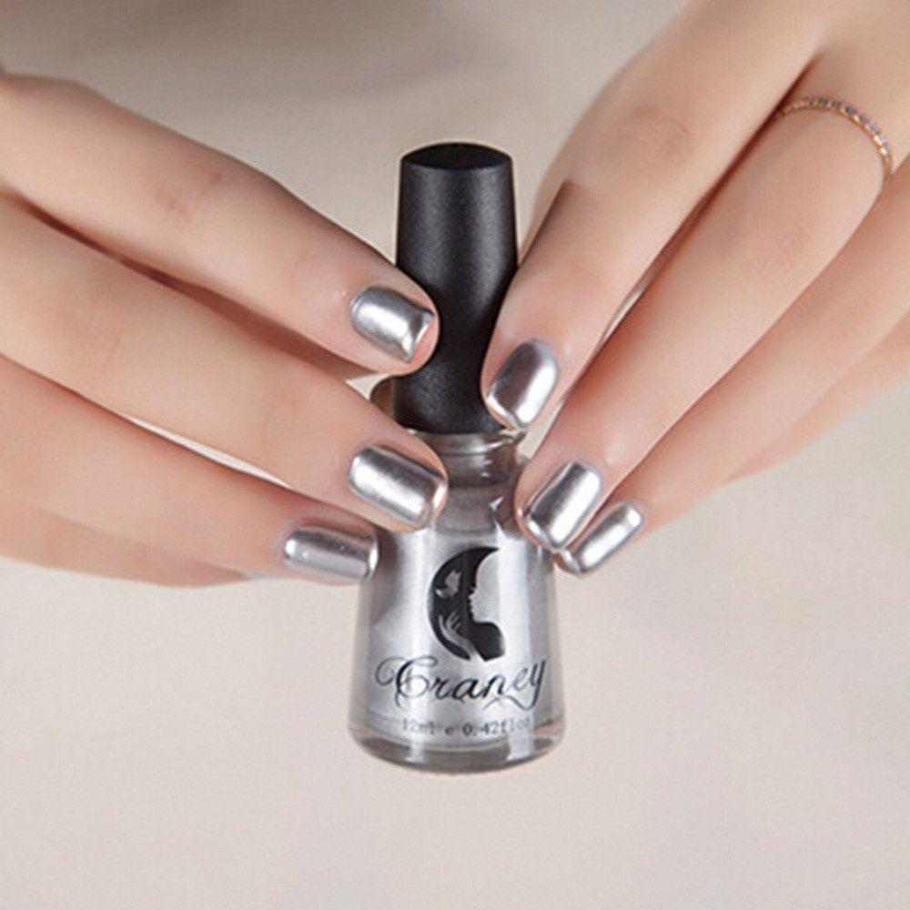Guru Nail Polish 15# Vintage Silver Glitter 6 ml
