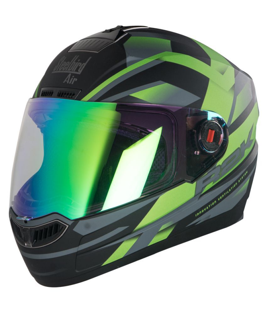 7a9f6004 Steelbird Air R2K Night Vision - Full Face Helmet Black L: Buy Steelbird  Air R2K Night Vision - Full Face Helmet Black L Online at Low Price in  India on ...