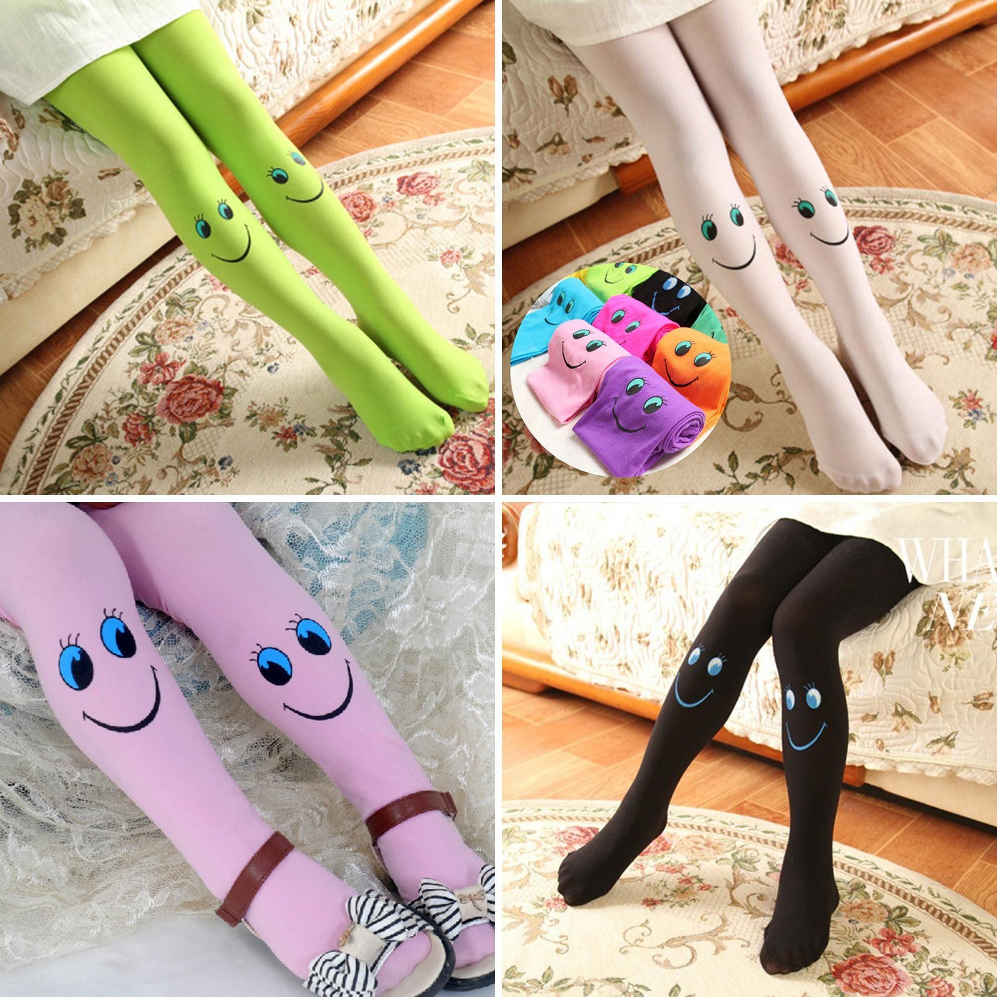 2017 New Fashion Winter Baby Girls Cute Smile Tights Dancing Pantyhose Child Christmas Stockings Socks