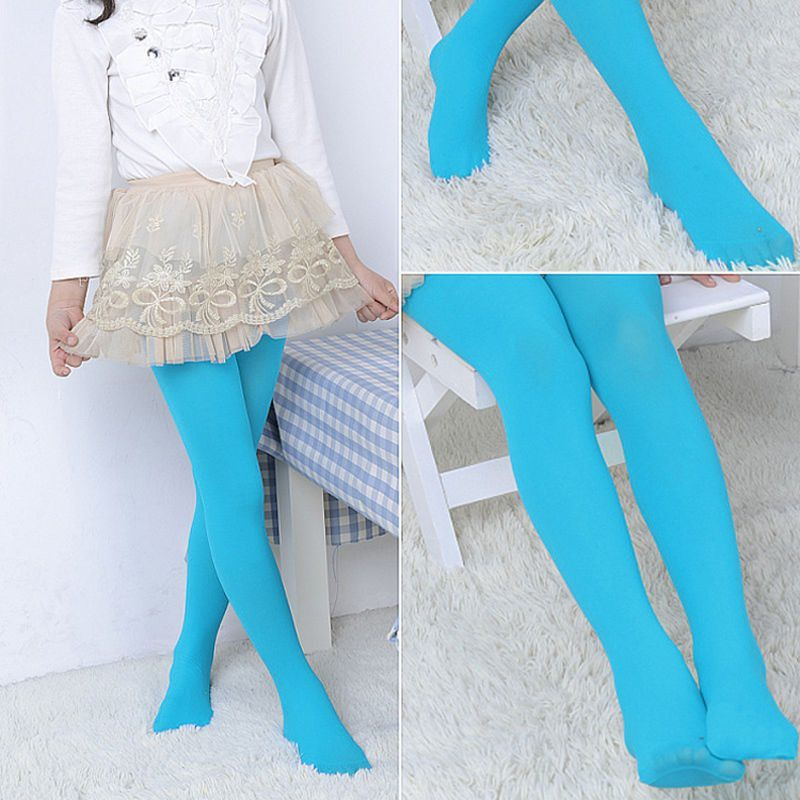 f699ca0369859 ... 1 Piece of Kid Green Tights Pantyhose Stockings Velvet Ballet Socks for  3-6 Years ...