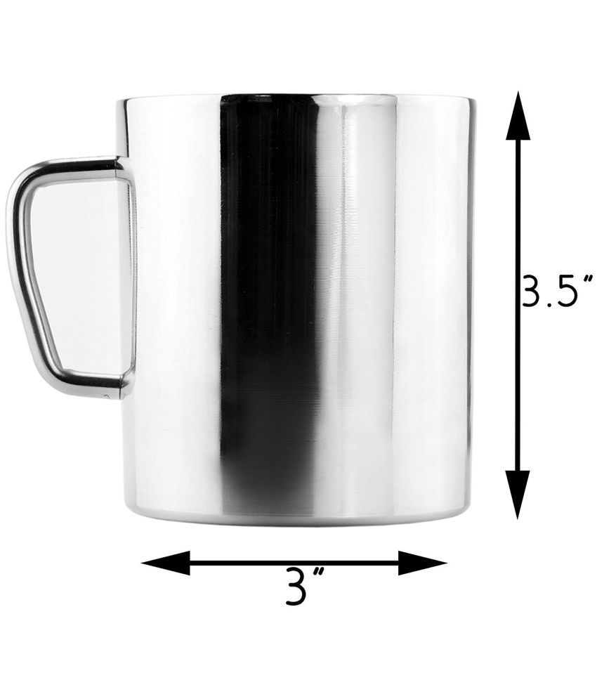 130d81dc662 KC Stainless Steel Double Walled Coffee Mugs Set of 2: Buy Online at ...