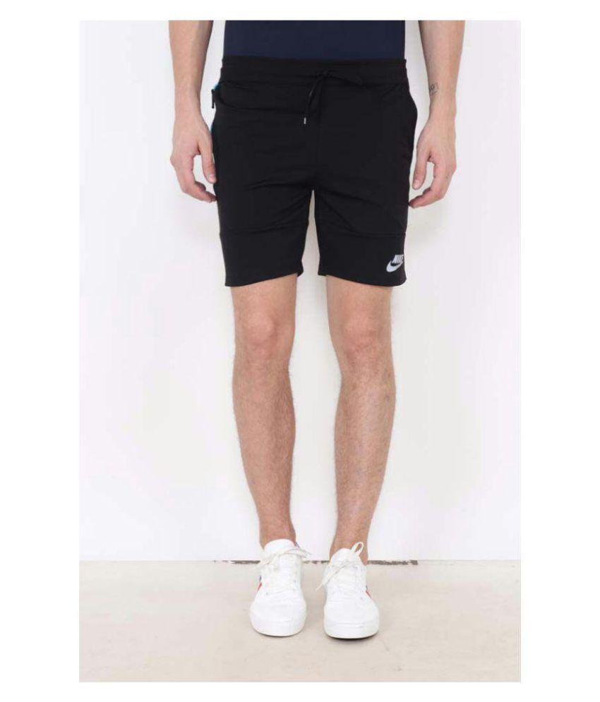 Nike Men Black  Monster Mesh Self-Design Sports Shorts