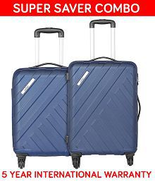 Safari Navy Blue M( Between 61cm-69cm) Check-in Soft HARBOURSM4WMBL Luggage