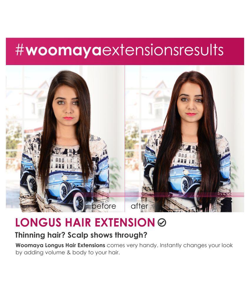 Woomaya Clip In Hair Extension Brown Buy Woomaya Clip In Hair