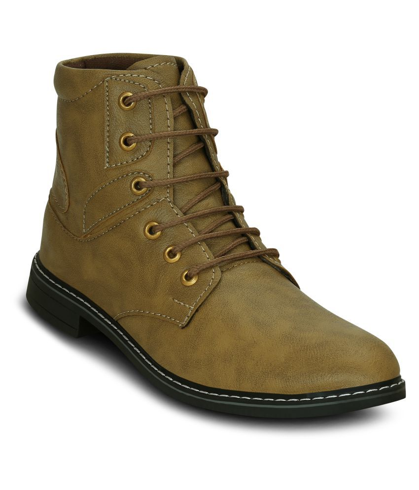 Get Glamr Beige Casual Boot