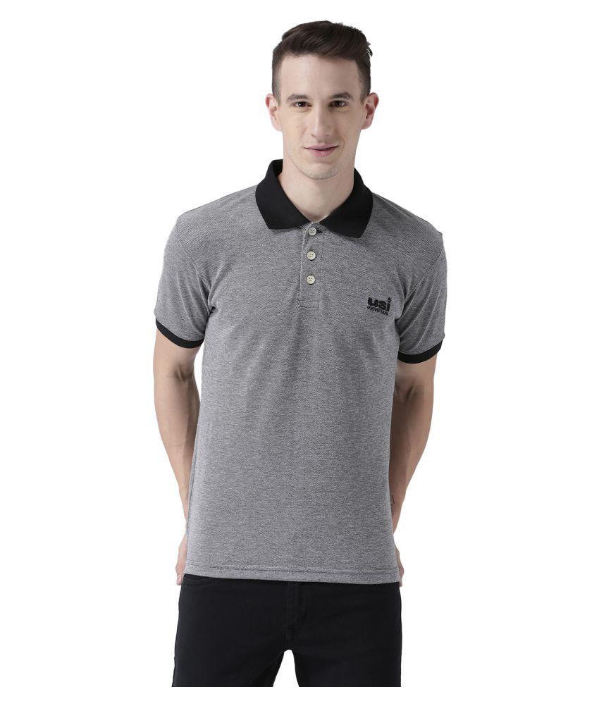 USI UNIVERSAL Charcoal Coloured Mens T-Shirt