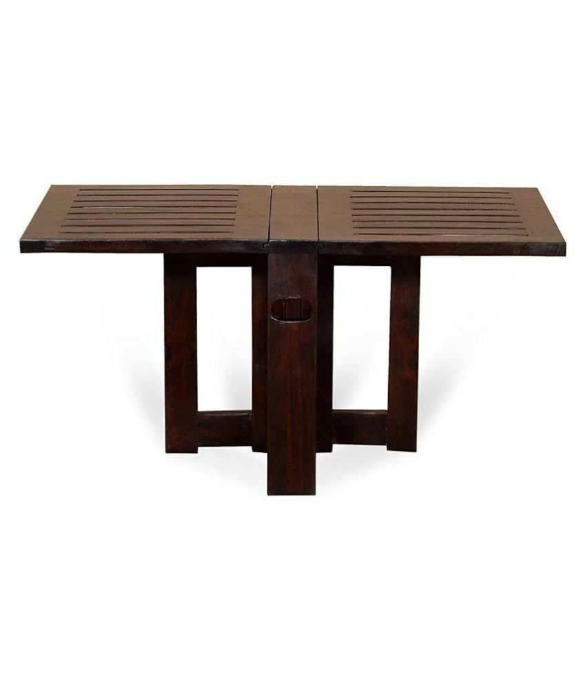 Angel S Solid Wood Folding Coffee Table Center Compact Design