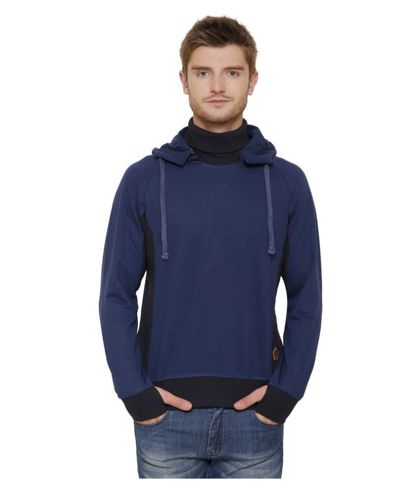 Maggivox Navy 100 Percent Cotton Fleece Sweatshirt