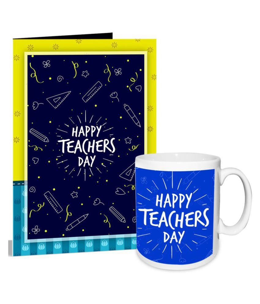 Happy teacher day greeting card mug hamper buy online at best happy teacher day greeting card mug hamper m4hsunfo