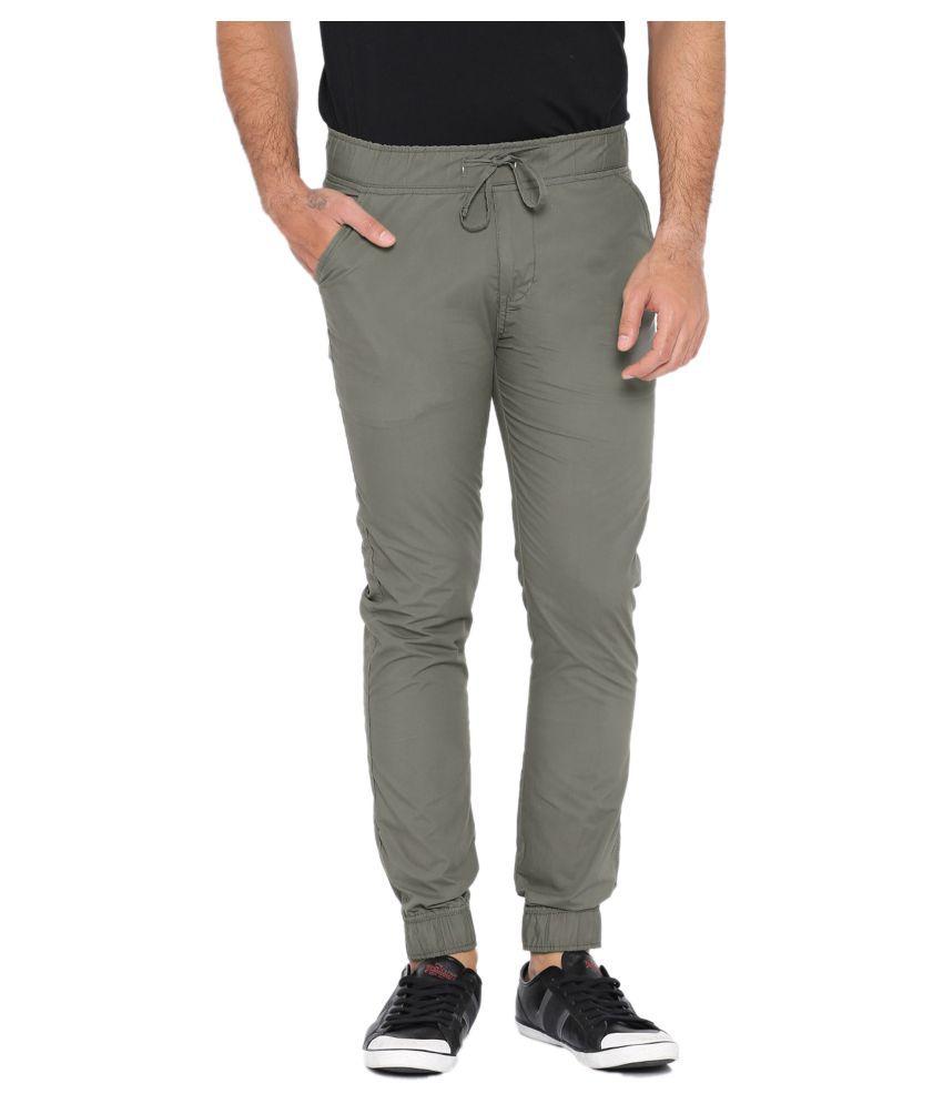 SPORTS 52 WEAR Grey Regular -Fit Flat Joggers