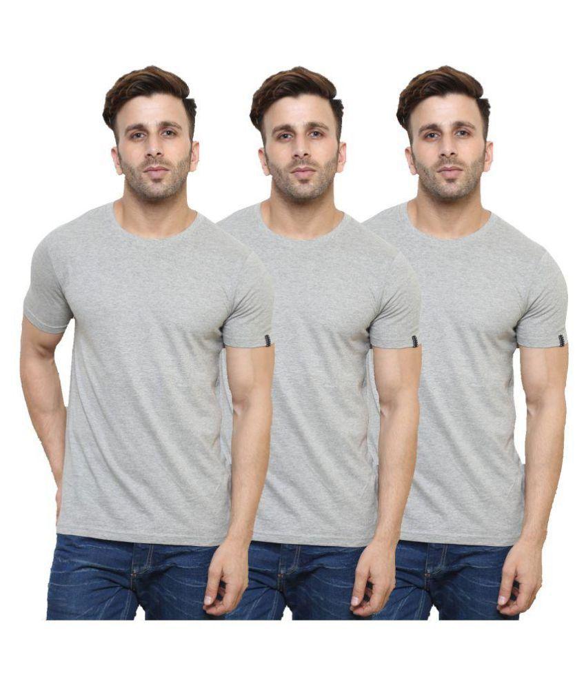 Espresso Grey Round T-Shirt Pack of 3