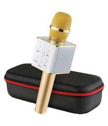 S.Blaze Black Portable Wireless karaoke Mic With Inbuilt Wireless Microphone & HIFI Speaker - Q7