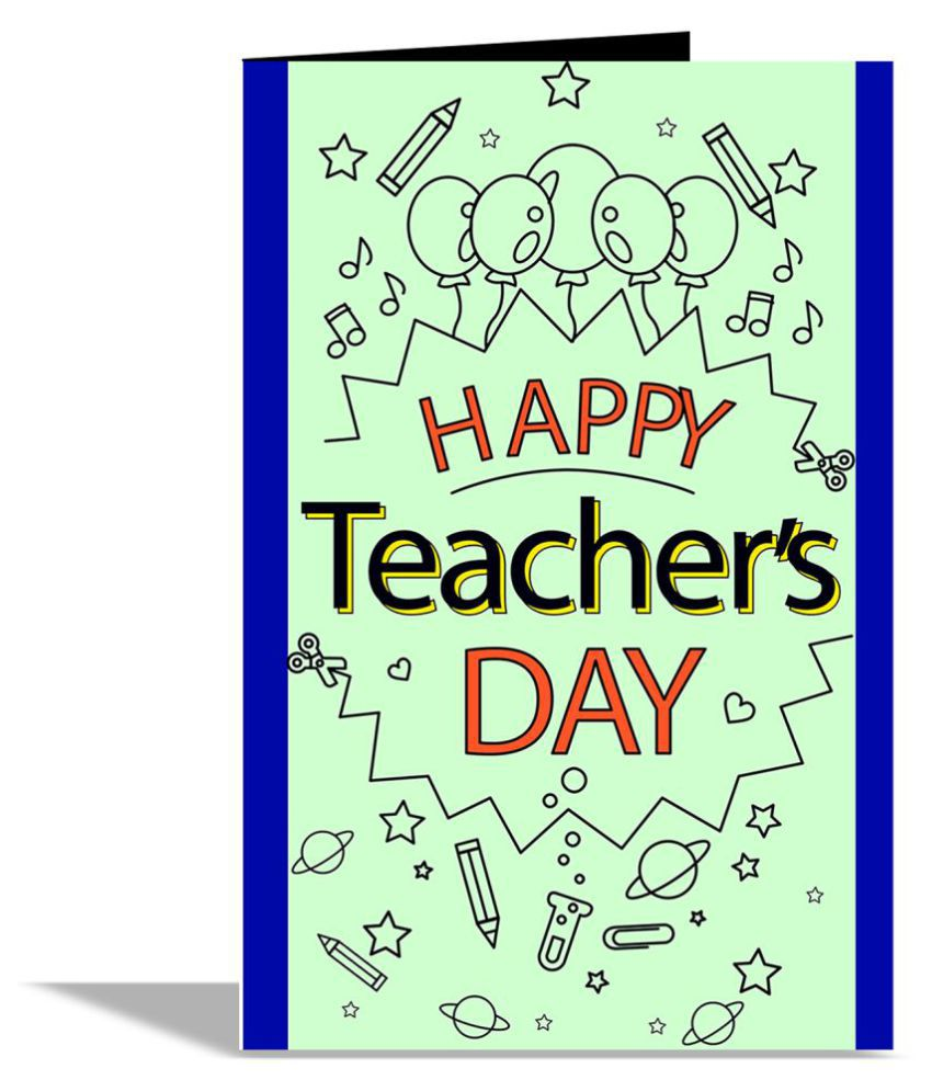 Happy Teacher Day Greeting Card: Buy Online At Best Price