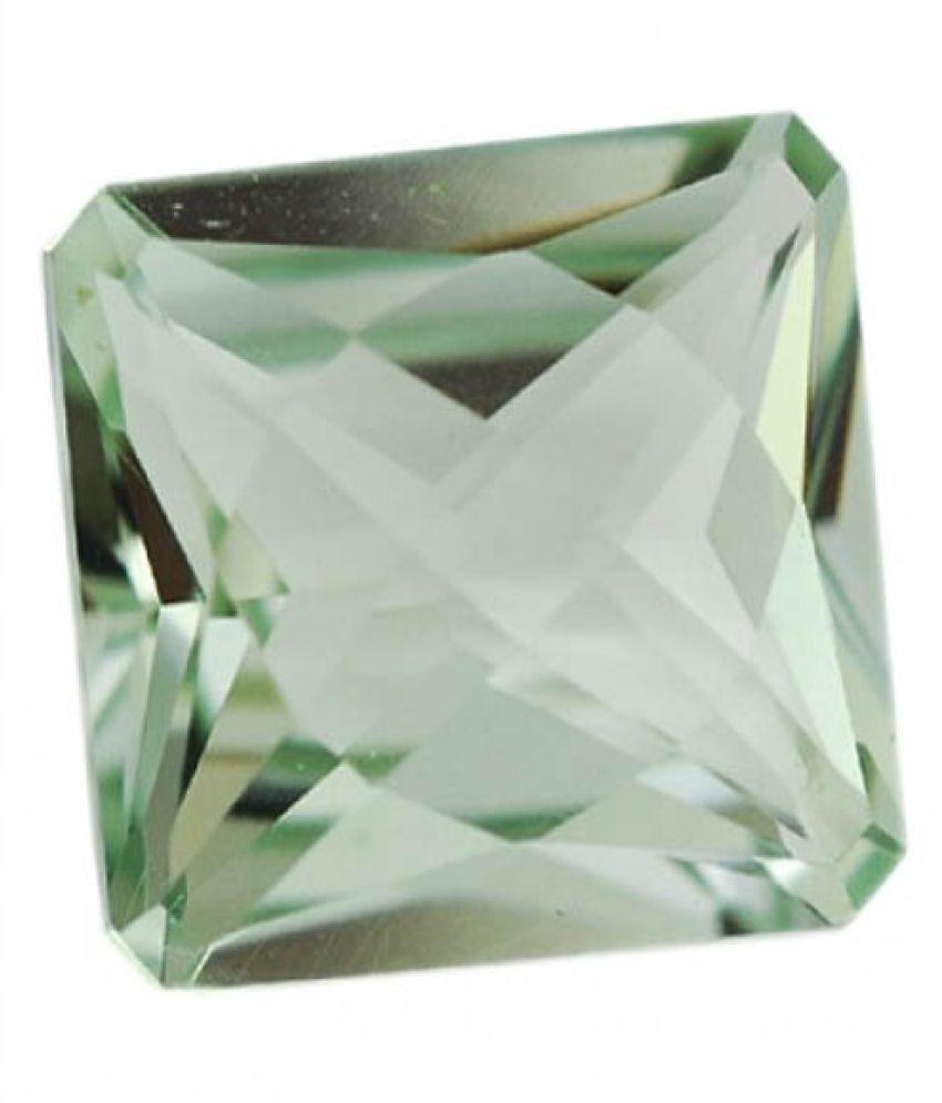 Tejvij And Sons 9.25 -Ratti Self certified Green Amethyst Semi-precious Gemstone