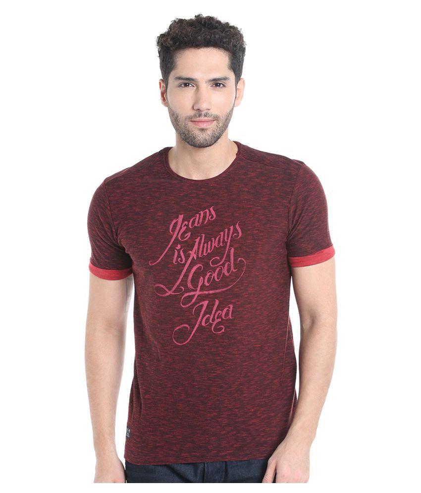 Killer Maroon Round T-Shirt