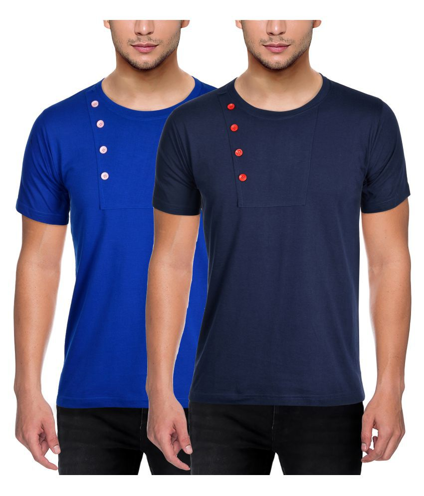FIT-7 Multi Round T-Shirt Pack of 2